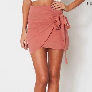 pink salmon LF wrap skirt never worn
